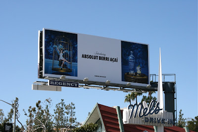 Absolut vodka Berry Acai billboard