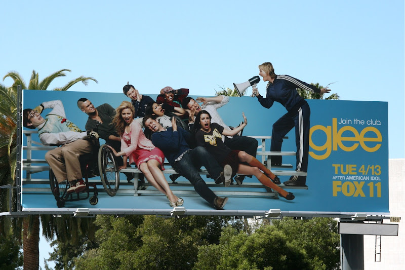 Glee Sue Sylvester megaphone TV billboard