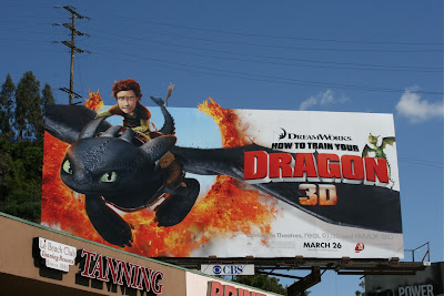 How to train your Dragon film billboard