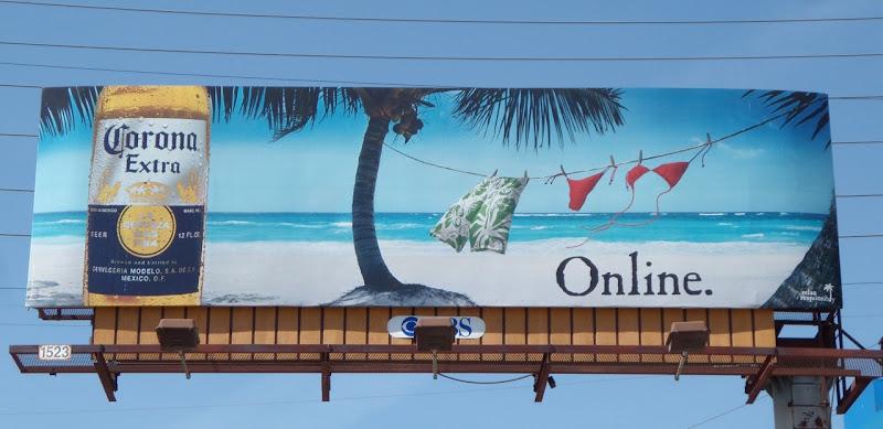 Corona Extra online billboard