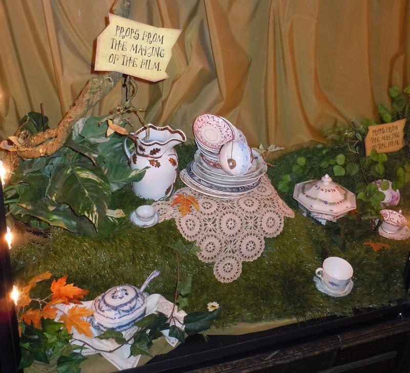 Alice in Wonderland crockery movie props