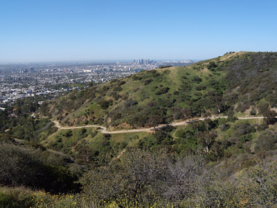Runyon Canyon trail in April