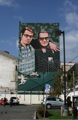 Edward James Olmos and Jaime Escalante mural Los Angeles
