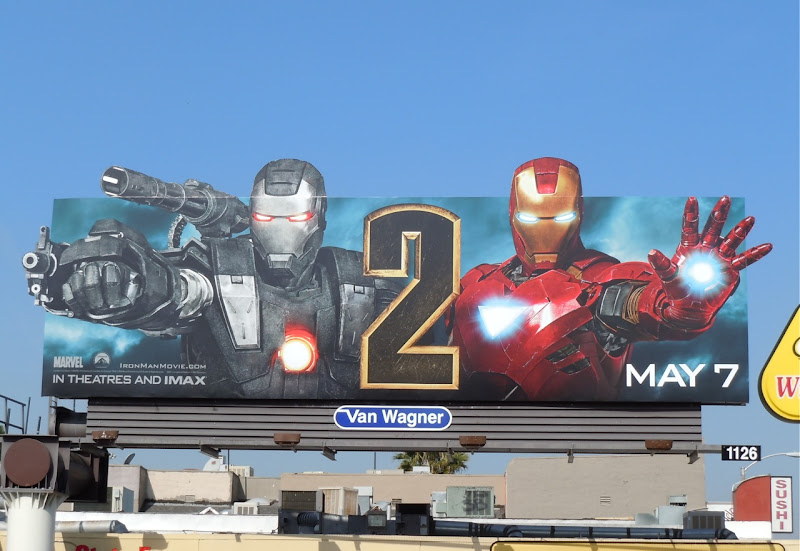 Iron Man 2 and War Machine movie billboard