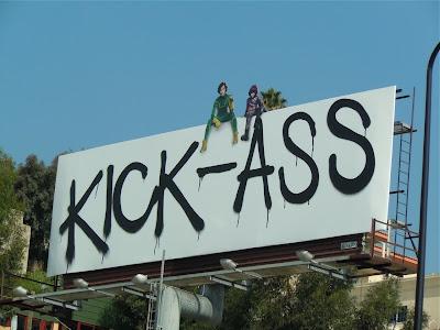 Kick-Ass unmasked film billboard