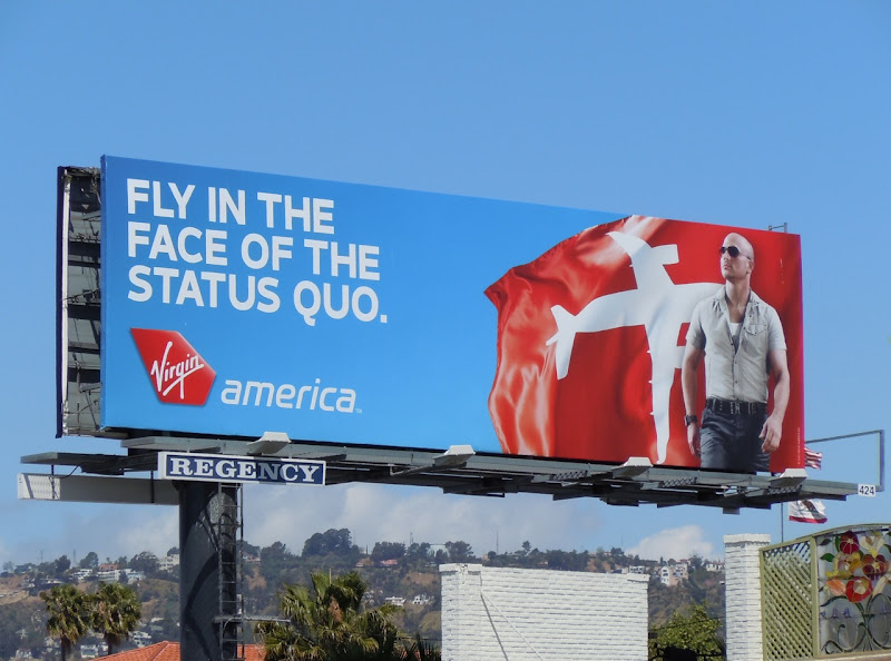 Virgin America Airlines billboard