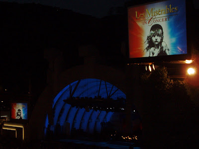 Les Miserables in Concert at night at the Hollywood Bowl