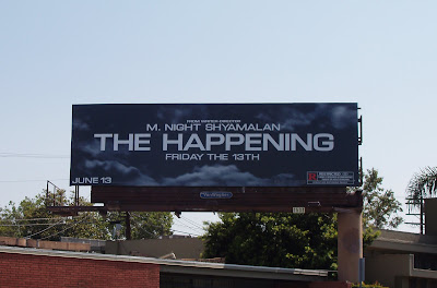The Happening movie billboard