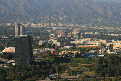 View of Universal City from Mulholland Scenic Overlook