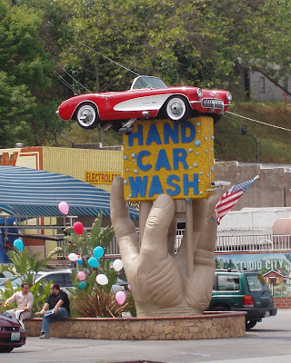 Hand car wash sign in Studio City