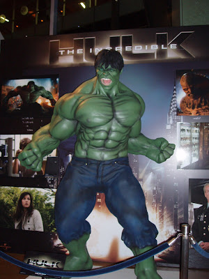 The Incredible Hulk photographed at Arclight Hollywood cinema foyer