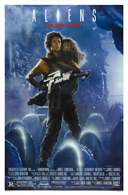 Sigourney Weaver in Aliens movie poster