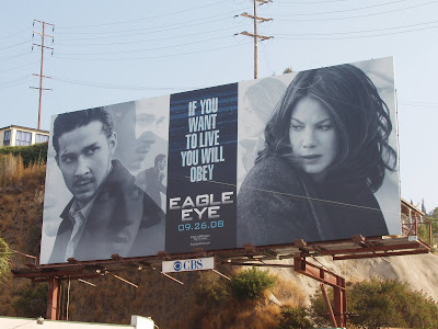 Eagle Eye movie poster on Sunset Blvd