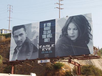 Eagle Eye movie poster on Sunset Blvd