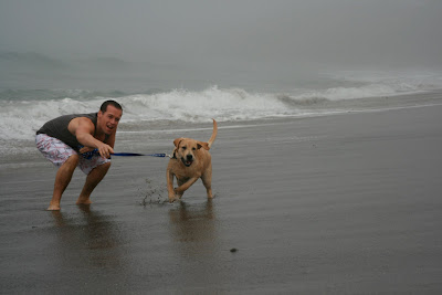 Beach puppy & Jason