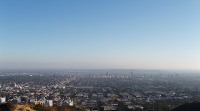 Runyon Canyon blue skies view