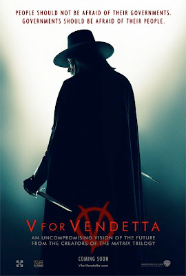 V for Vendetta movie poster - V