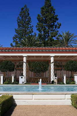 Getty Villa pool fountain