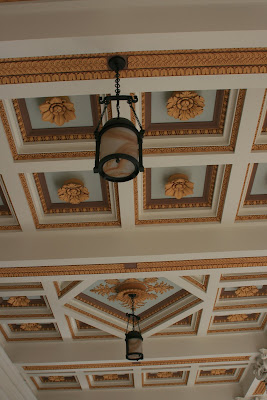Beautiful ceilings at The Getty Villa