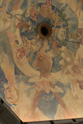 Griffith Observatory ceiling mural