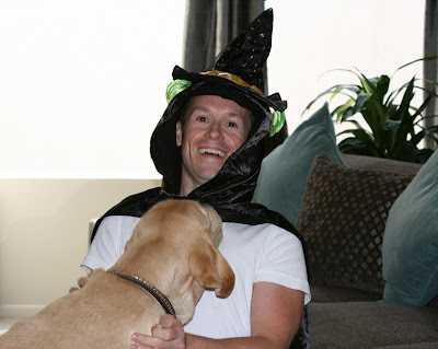 Halloween pup & Jason in Hollywood