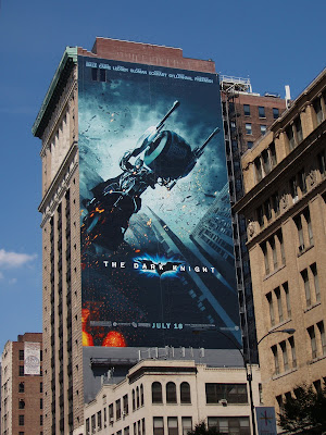 The Dark Knight movie billboard in New York City