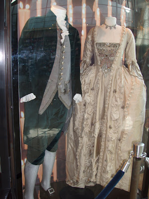 The duchess film costumes on display at Arclight Hollywood