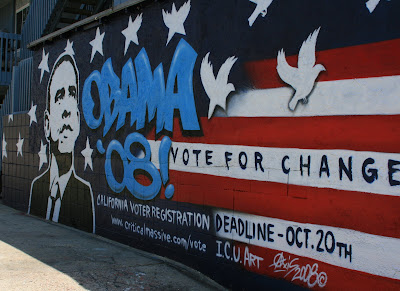 Obama wall mural in Venice Beach