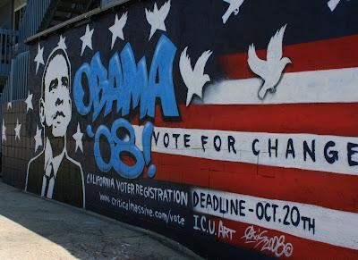 Obama wall mural in Venice Beach