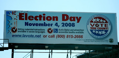 Vote Election Day billboard in L.A.