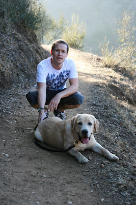 Jason & Cooper on the Franklin Canyon Park trail