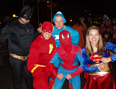West Hollywood Halloween costume parade heroes