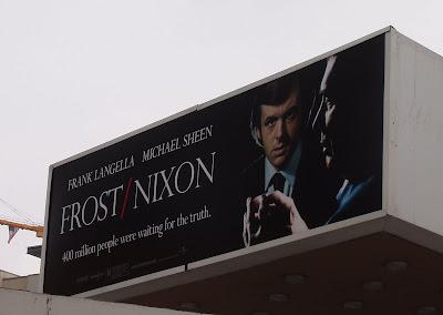 Frost / Nixon movie billboard