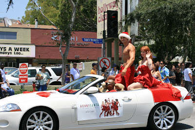 Hunky Santa at the West Hollywood Gay Pride 2008