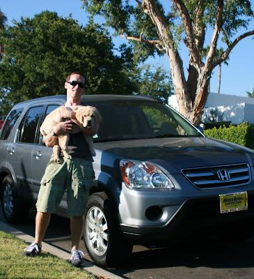 Jason's car and his sidekick Cooper