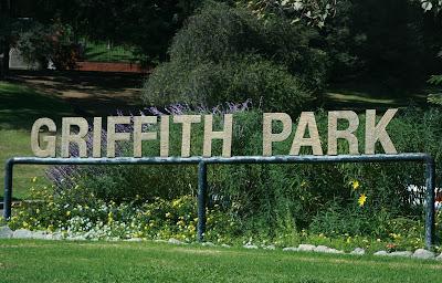 Griffith Park entrance on Los Feliz Blvd