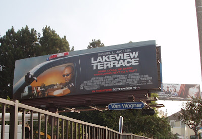 Lakeview Terrace movie billboard