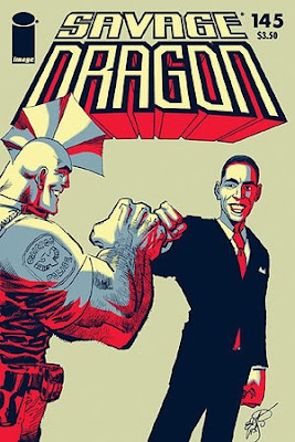 Savage Dragon issue 145 Obama cover