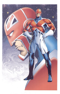 Captain britain by artist Alan Davis