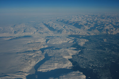 Icy Greenland landscape