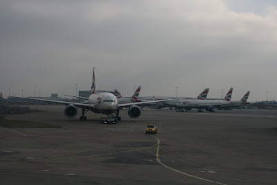 British Airways planes at Heathrow Airport