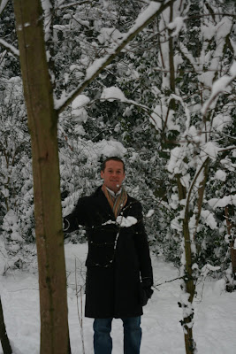 Jason in Hollywood in London snow