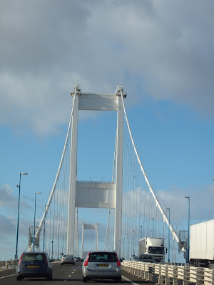 Crossing the old Severn Bridge into Wales