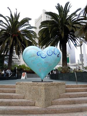 Keiko Nelson Heart & Heart sculpture San Francisco