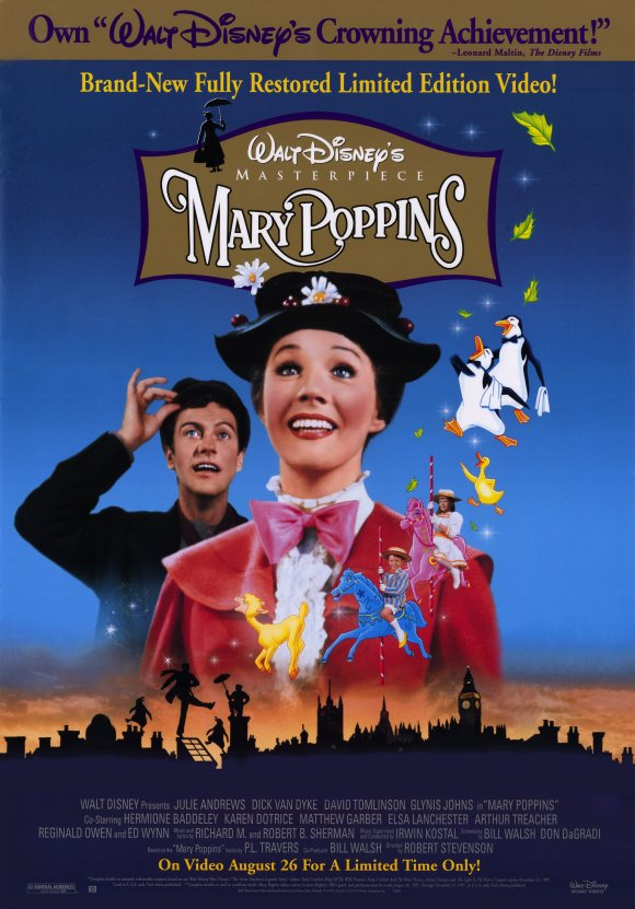 Mary Poppins Julie Andrews Wearing Hat Poster