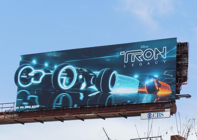 Tron Legacy Light Runner billboard