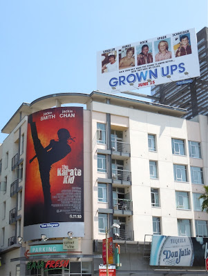 Karate Kid and Grown Ups billboards