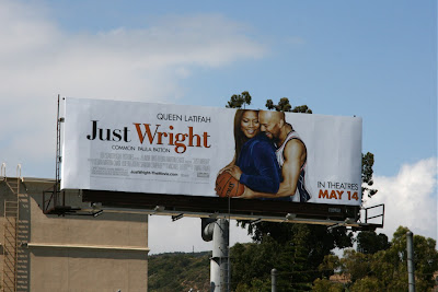 Just Wright movie billboard