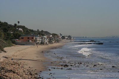Houses along Malibu shore
