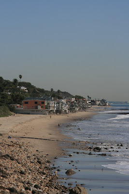 Malibu beach house coastline